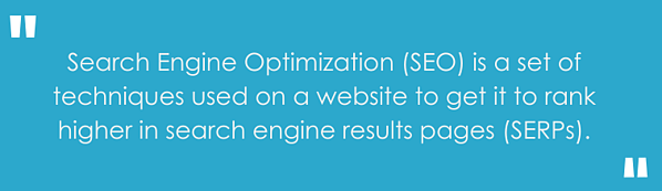"""""""Search Engine Optimization (SEO) is a set of techniques used on a website to get it to rank higher in search engine results pages (SERPs)."""""""