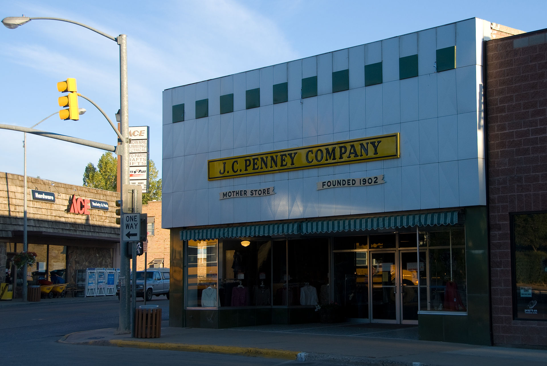 JC Penney Mother Store in Kemmerer, Wyoming.